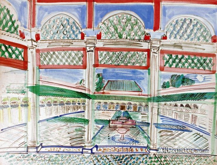 Raoul Dufy,Palace Of The Bey Of Marrakech oil painting reproductions for sale