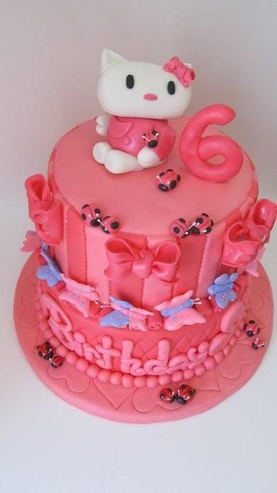 7 best cakes images on Pinterest Hello kitty birthday cake