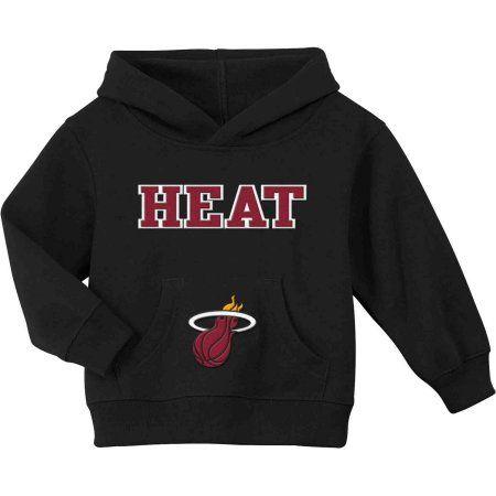NBA Miami Heat Team Fleece Hoodie, Size: 12M, Black