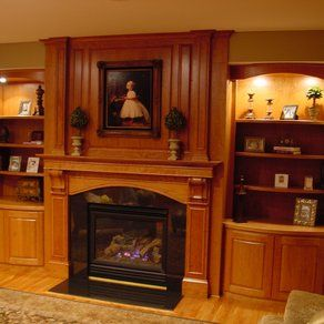 Built In Bookcases Around Fireplace Custom Fireplace Mantel Wood Stone Fireplace Mantels