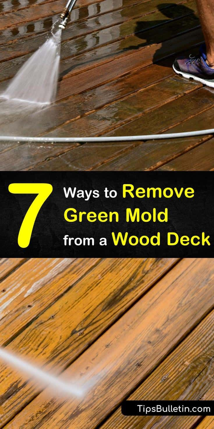how to remove mold from wood deck