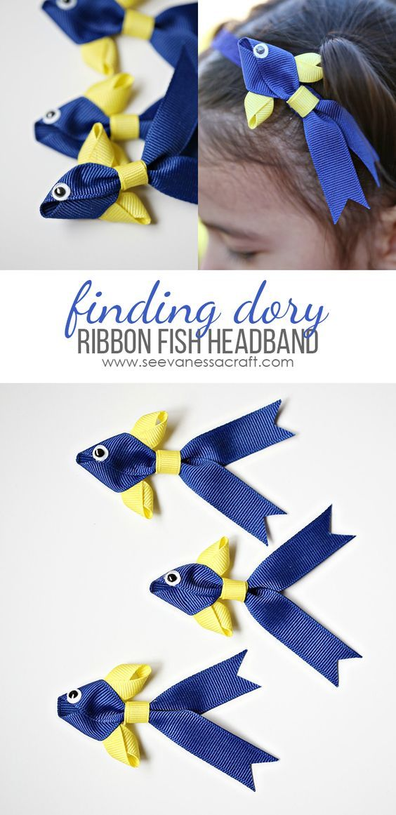 Craft: Finding Dory Ribbon Fish Headband Tutorial - Cute DIY hair accessory!