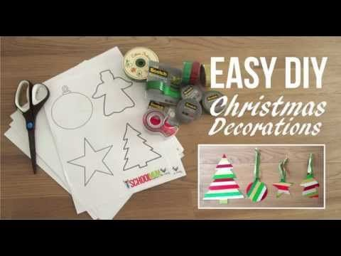 DIY Easy Christmas Decorations Kids Can Make - Free Printable - School Mum