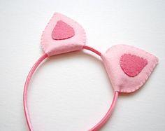 Wool Felt Pig Ears Headband
