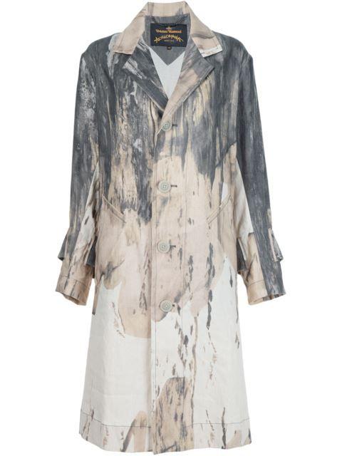 Купить Vivienne Westwood Anglomania  пальто с принтом тай-дай в American Rag from the world's best independent boutiques at farfetch.com. 400 бутиков, 1 адрес. .