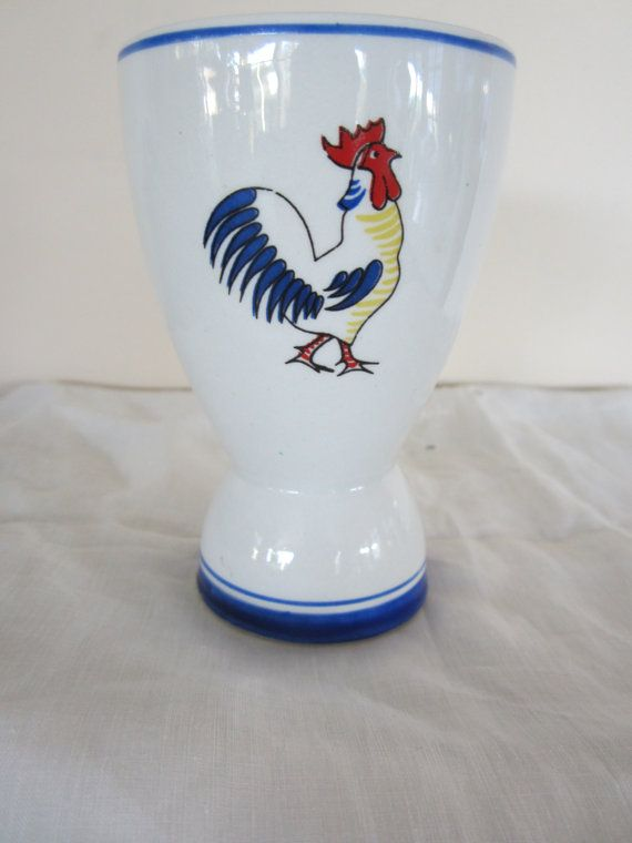 Vintage Arabia of Finland Egg Cup with Rooster and by myfancies