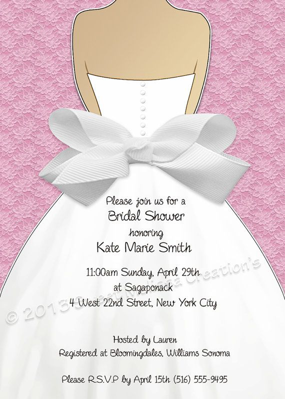 Bridal Shower Invitation Lace Bow Design Multiple Colors Diy Print At Home Sweet Melissa Creations Party Showers Pinterest