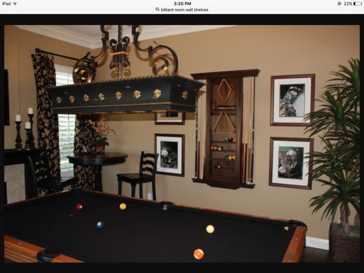 LOVEE this wall with Cue stick rack on wall