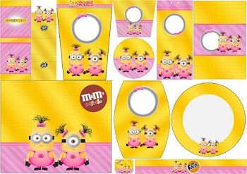 Minion Girls: Free Printable Candy Bar Labels.