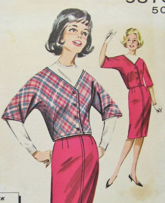 """Butterick 9875 Size 12 Teen Jacket and Skirt each made from one yard of 54"""" fabric at VolvoxVintageShop on Etsy."""