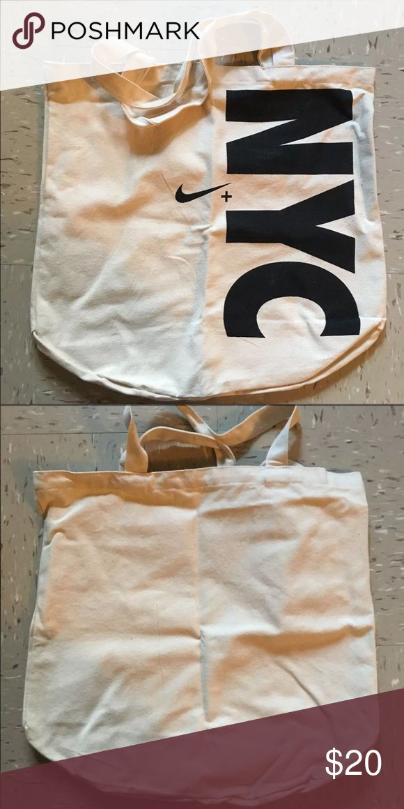 Exclusive NYC Nike Tote Bag Like new, unisex canvas NYC exclusive nike tote bag. Nike Bags Totes
