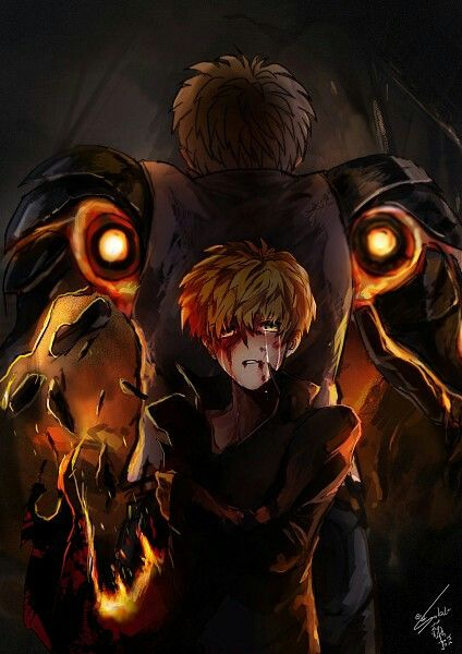 Genos. One Punch Man  Credits to the artist