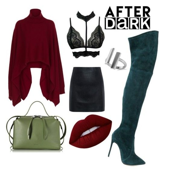 """After hours"" by ziasmin on Polyvore featuring Casadei, Rosetta Getty, McQ by Alexander McQueen, Jil Sander, Allurez and Lime Crime"