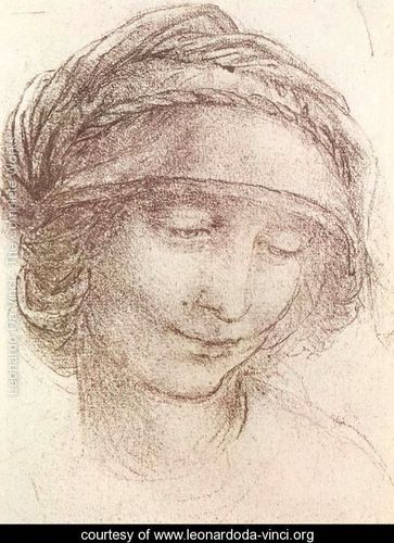 Leonardo da Vinci ~ Head of a woman 1 ~ Renaissance art