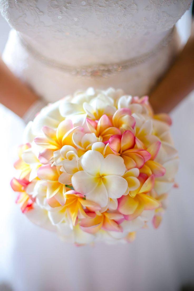 Outrigger Fiji Beach Resort Wedding Ideas Planning Inspiration Tropical Paradise Style Floral Design Planning Photography Arrangement Stunning White Frangipani Yellow Pink