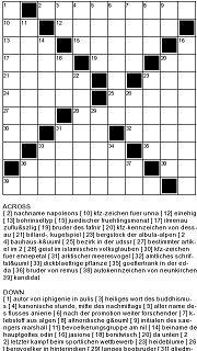 Kreuzworträtsel kostenlose online