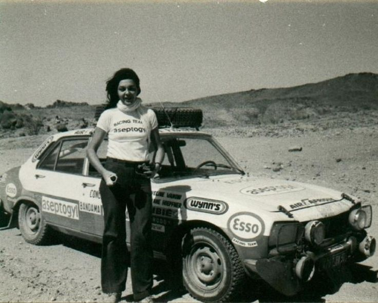 Bandama Rally 1974, Christine Dacremont.
