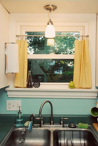 gingham kitchen curtains yellow