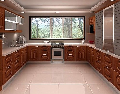 U Shaped Kitchen Floor Plans Pinterest