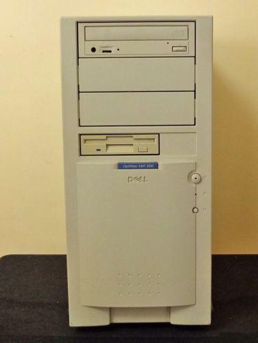 1995 Dell Optiplex XMT 5100 Windows 98 32MB RAM Intel Pentium Processor.  Aww. tror vi typ hade en sådan