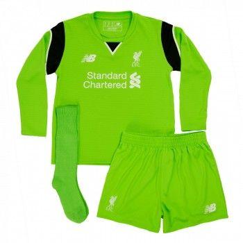 Liverpool Tröja Barn 16-17 Målvakt Hemmatröja Långärmad  #Fotbollströjor