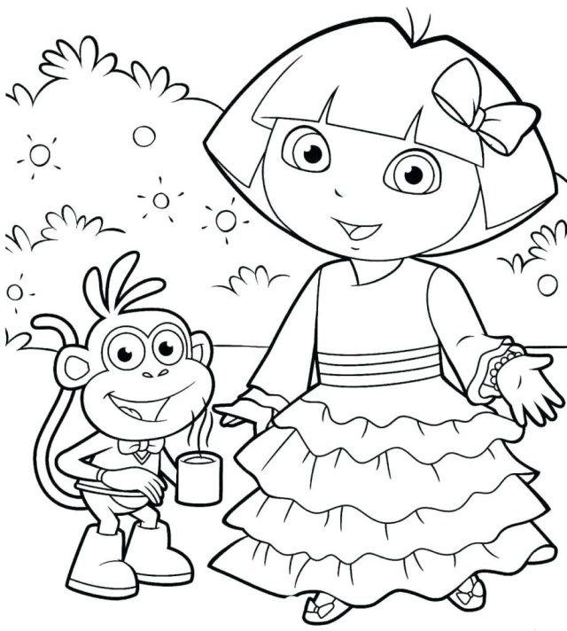 13517c02739fc890a36fdb6b40764598 » Dora Picture For Kids To Color