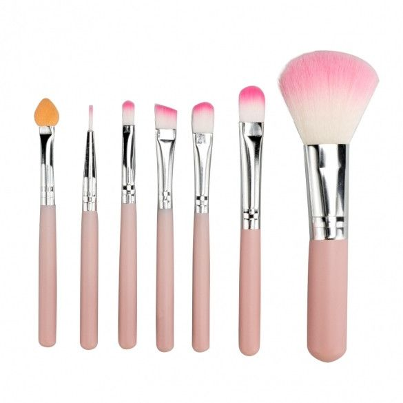 7PCS Professional Makeup Brush Set Cosmetic Brushes Eye And Face Makeup Brush Tool