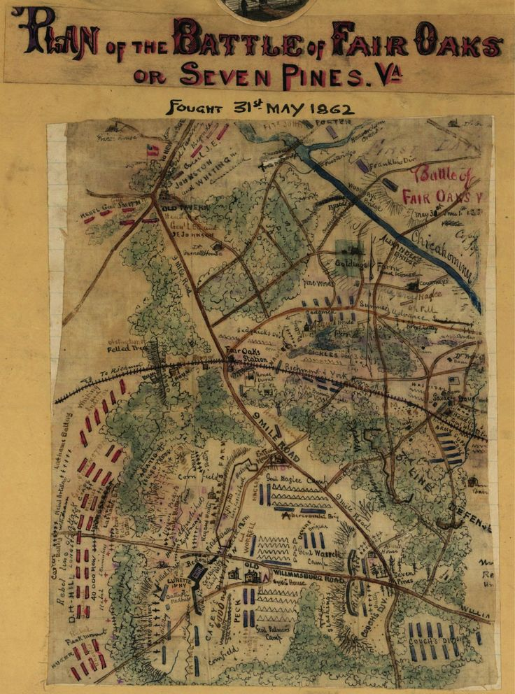 Kentucky Freeway Map%0A Plan of the Battle of Fair Oaks or Seven Pines  Va  Fought   st May