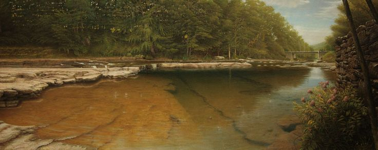 Mikel Olazabal  River in Hunter, NY  Oil on canvas
