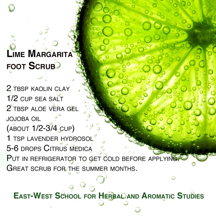 Lime Margarita Foot Scrub Cooling and Refreshing during the hot summer months. www.yourshakti.com