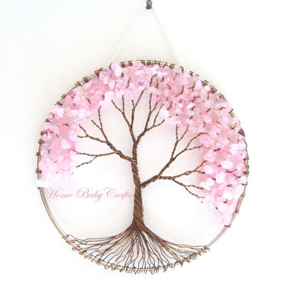 Cherry Tree fil Tree of Life Wall Hanging dans par HomeBabyCrafts