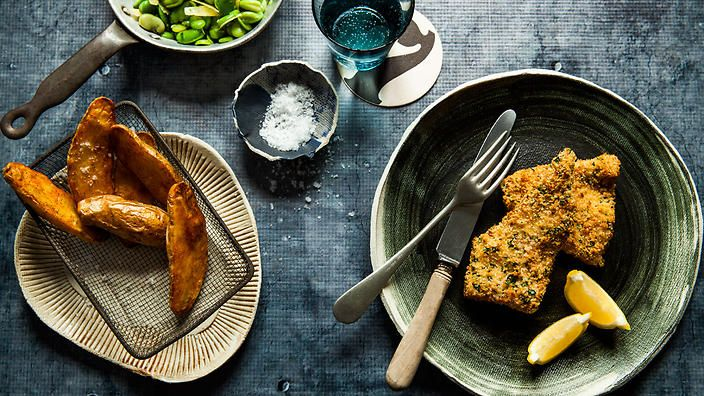 Fish and chips needn't be greasy or bought from the local 'chippy'. When cooked at home, and baked rather than fried, the classic Aussie treat can be transformed into a healthy crowd-pleaser. | Photography and styling by China Squirrel