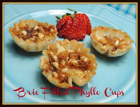 Brie Filled Phillo Cups