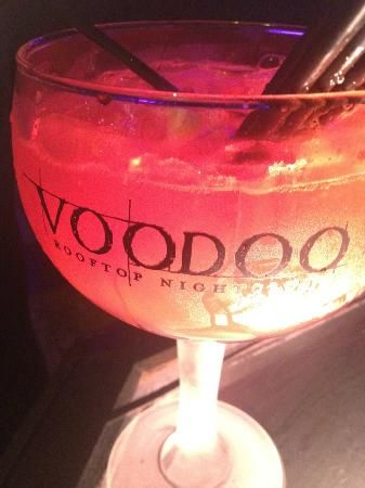 Voodoo Drink  1 cup banana rum 1 cup pineapple rum 1 cup citrus rum 1 cup coconut rum 2 cups cranberry juice 2 cups pineapple juice 2 cups orange juice  Mix all together. Make in any amount you like, just keep the one part liquor to two parts juice mixture and you have yourself a fantastic rum punch for parties.