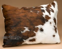 This is a genuine cow hide western throw pillow made with real hair on hide. This western pillow features a natural cowhide front and fabric back. Also perfect for southwest design or western decor, g