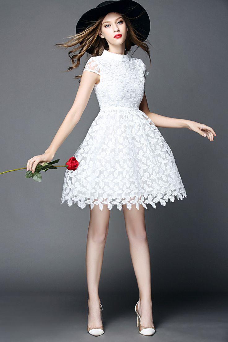 Aliexpress.com: Acheter 2015 new designer femmes robe d'été en dentelle occasionnels parti blanc robes robes défilé de mode haute qualité femmes vêtements de robe de velours fiable fournisseurs sur Dou Dou Kids