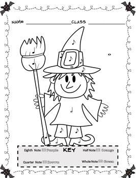 Color By Note Halloween (13 Halloween Music Activities