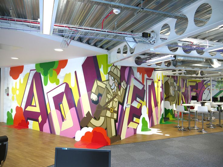 Design Agency Office Mural By Soulful Creative , Via Behance