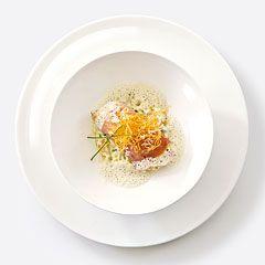 ASA Selection.de :: halibut fillet in San Daniele ham on horseradish risotto