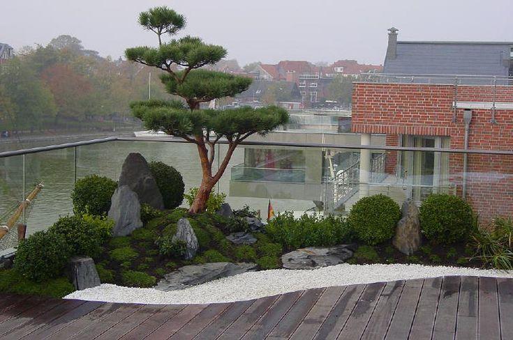 japanischer garten auf dachterrasse traumhaftes wohnen im penthouse mit japangarten japan. Black Bedroom Furniture Sets. Home Design Ideas