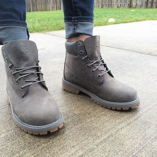 grey timberlands.