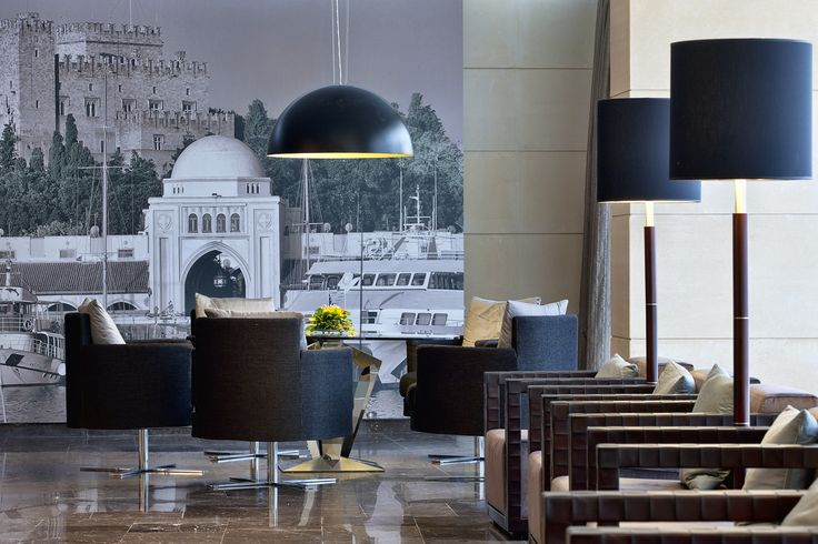 Chic Hotel - Elegant lobby at the Olympic Palace Rhodes Greece