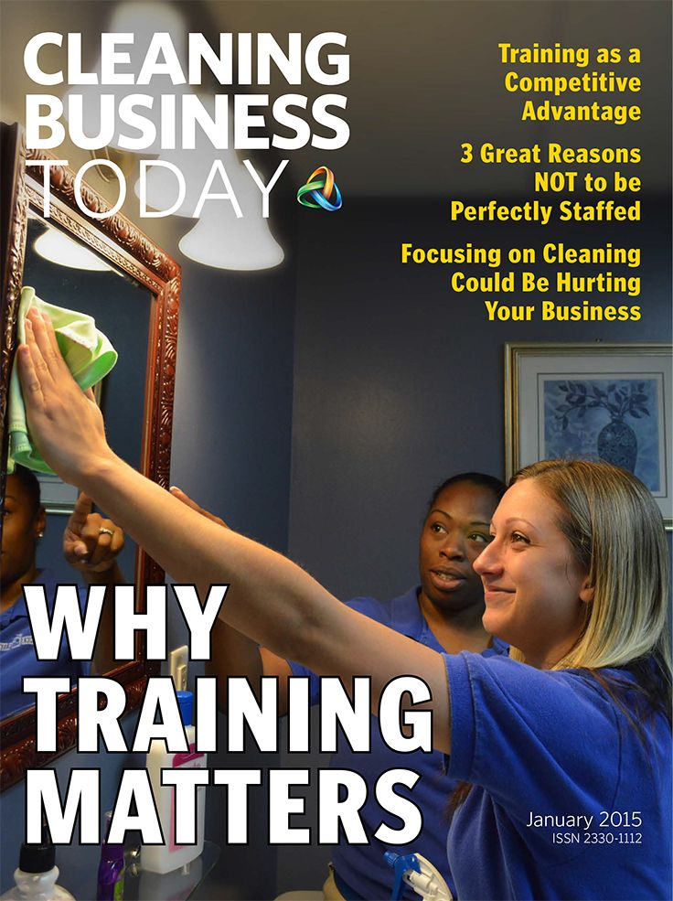 The January 2015 issue of Cleaning Business Today explores employee training. With increased competition in the residential cleaning industry, an extensive program to train your employees, both in how to clean and how to behave professionally, can provide a competitive advantage.