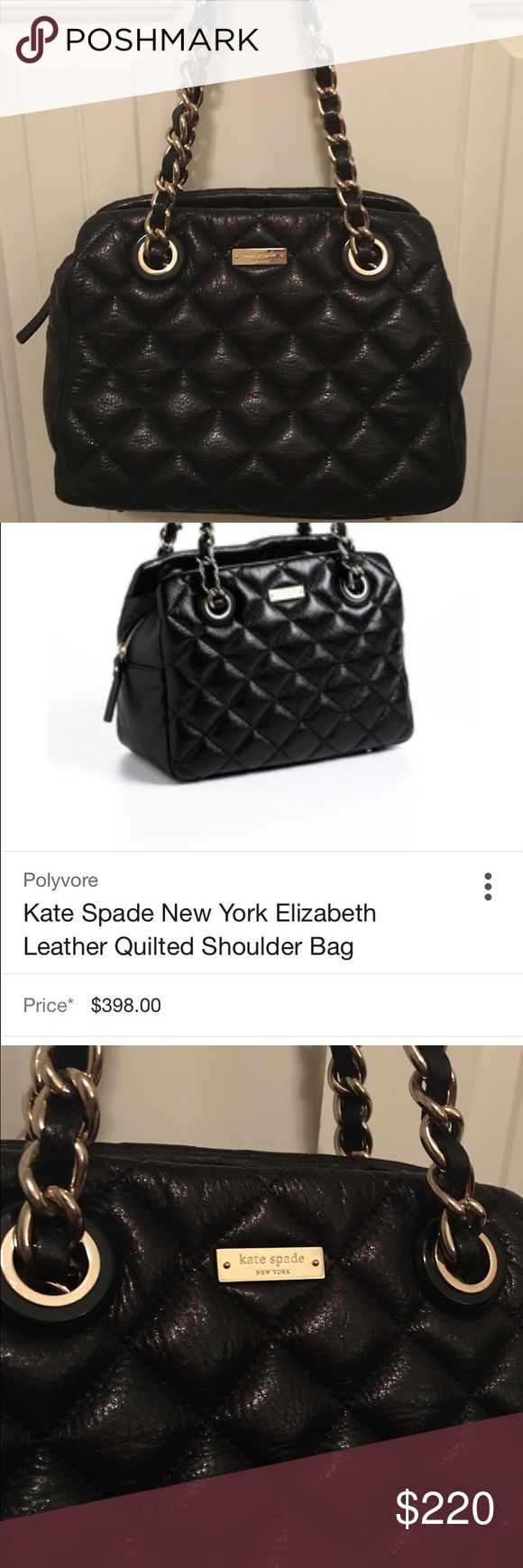 Kate Spade Gold Coast Quilted Leather Purse Used condition. No visible wear on exterior. Small stain on inside that can be cleaned. Priced accordingly. Retail at $398 kate spade Bags Crossbody Bags