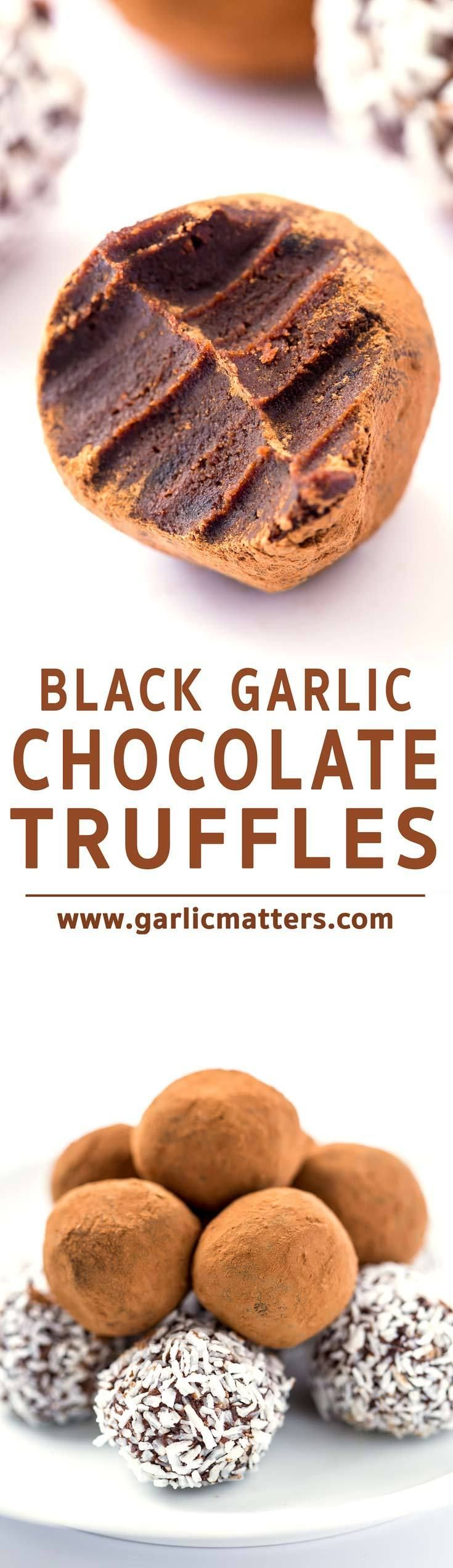 It's not a prank! Each black garlic chocolate truffle is a soft, rich, sophisticated mouthful of deliciousness, which will please even the sweetest, chocolate loving tooth in a bite.