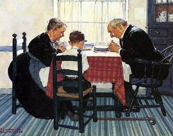 Norman Rockwell (1894 – 1978, American) .... We Give thanks and acknowledge him in all things.