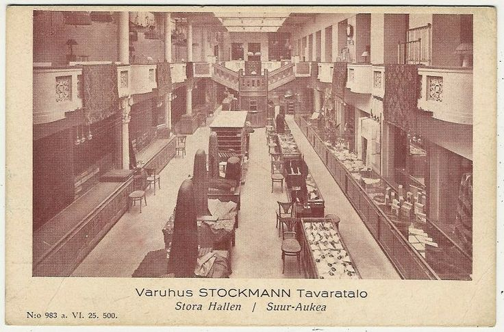 Vintage Stockmann department store photo - Helsinki.