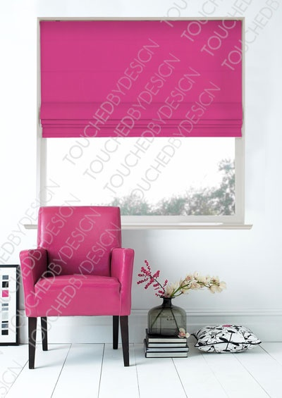 Swatch Box Lido Hot Pink Roman Blind ORDERED SAMPLE