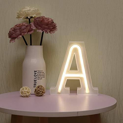 Neon Letter Lights, Light Up Letters, Christmas Birthday Party, Christmas Wedding, Light Up Words, Alphabet Lighting, Princess Canopy Bed, Beach Shower Curtains, Marquee Letters