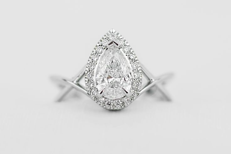1ct Pear shaped Diamond ring with split shoulders, created for our Diamond Dash event in aid of the Toowoomba Hospital Foundation #Toowoomba #pearshape #diamond #DiamondDash